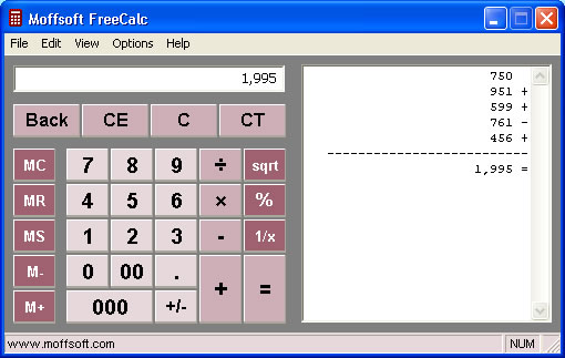 calculator image displaying color scheme
