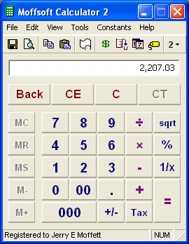 Our calculator software lets you disable or hide buttons you don't use