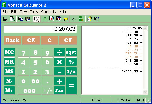 Customize your calculator by changing colors and fonts