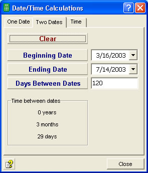 Calculate dates and times with our calculator software