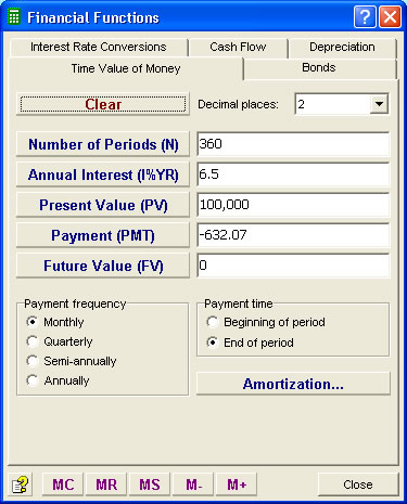 Moffsoft Calculator 2 is a powerful financial calculator