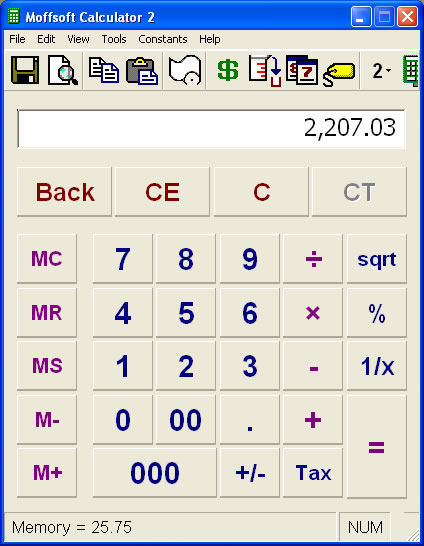 This large display key calculator is ideal for the visually impaired